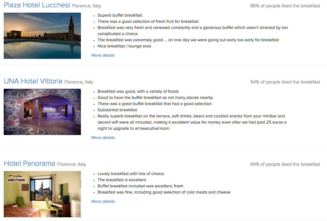 sample hotel search results